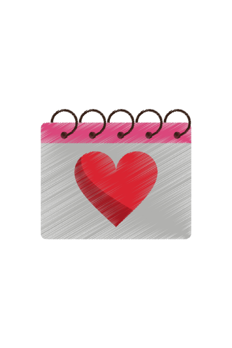 Notebook with love heart