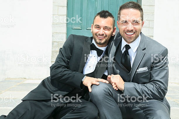 Gay couple just married