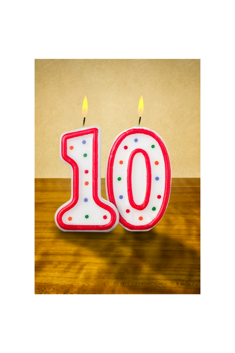 10 years candles