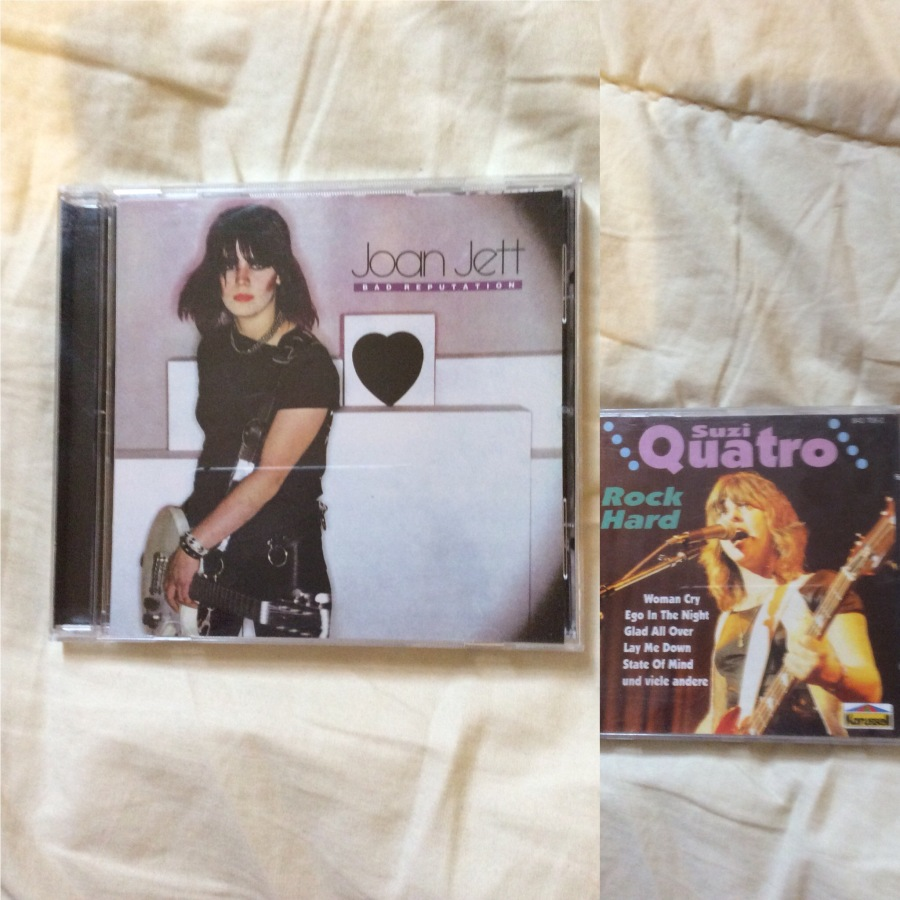 "Left: Joan Jett ""Bad Reputation"", Right: Suzi Quatro Rock Hard"