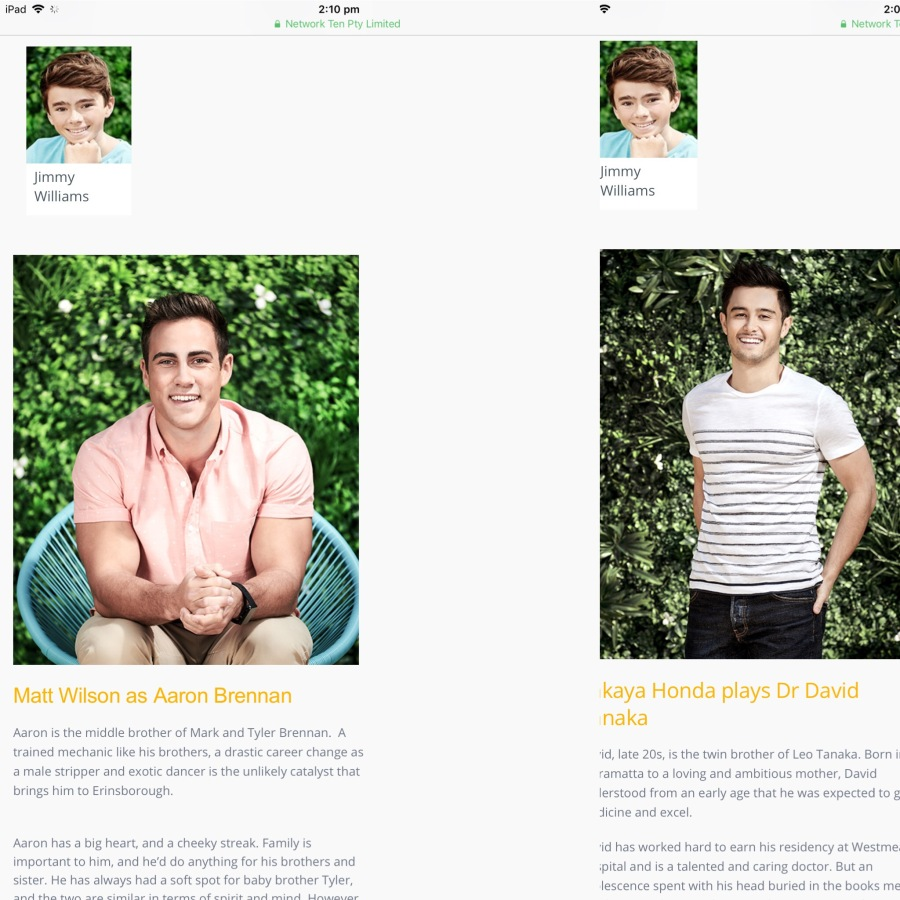 Screenshot of David and Aaron from Neighbours